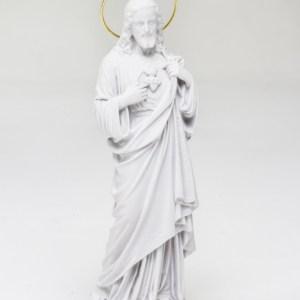 Imagem Sagrado Coração De Jesus 31cm Pó De Mármore
